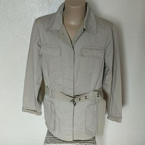 Tommy Hilfiger Woman 2XL Cotton Safari Belt Jacket